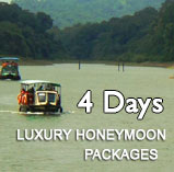 Kerala Luxury Honeymoon  Packages for 4 days